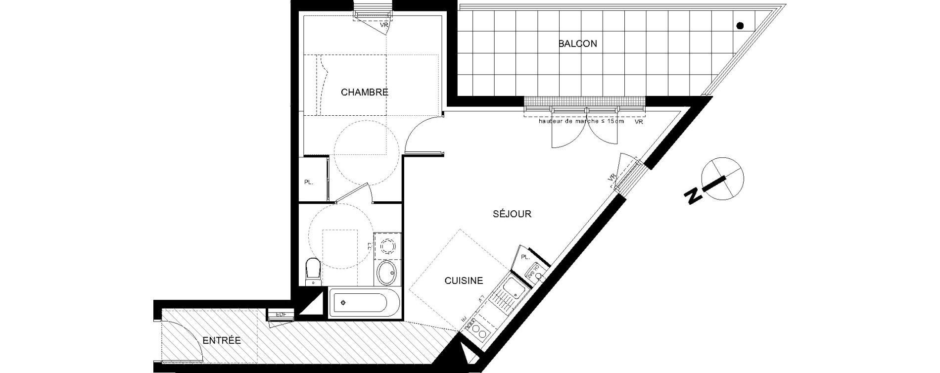 Appartement T2 de 46,12 m2 à Castanet-Tolosan Castanet tolosan centre