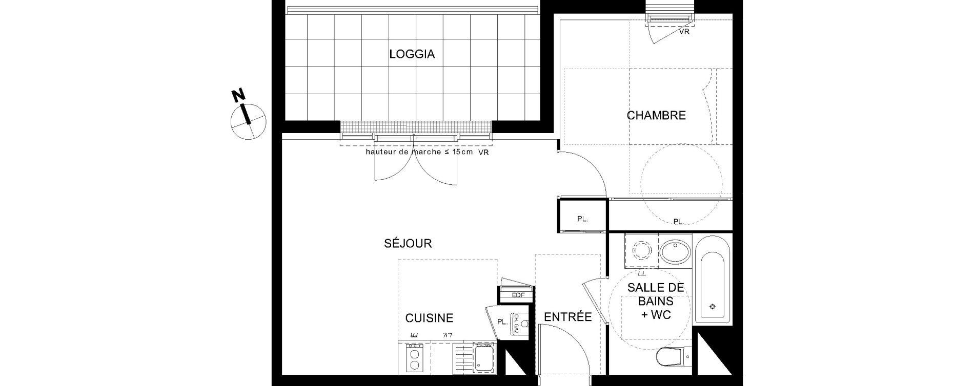 Appartement T2 de 41,04 m2 à Castanet-Tolosan Castanet tolosan centre