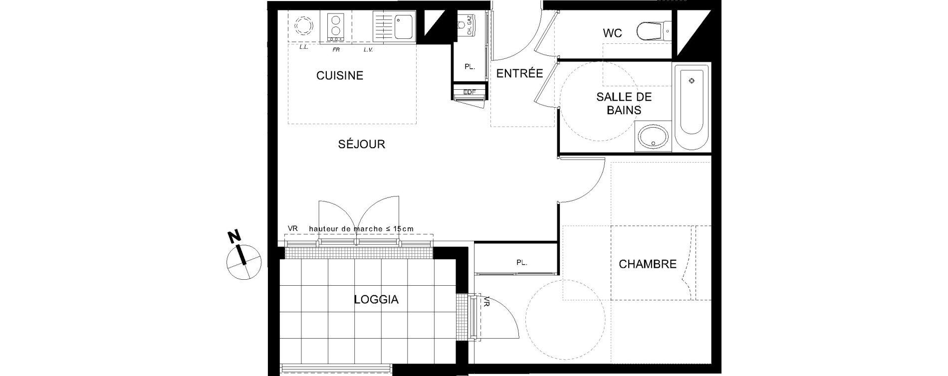 Appartement T2 de 43,72 m2 à Castanet-Tolosan Castanet tolosan centre