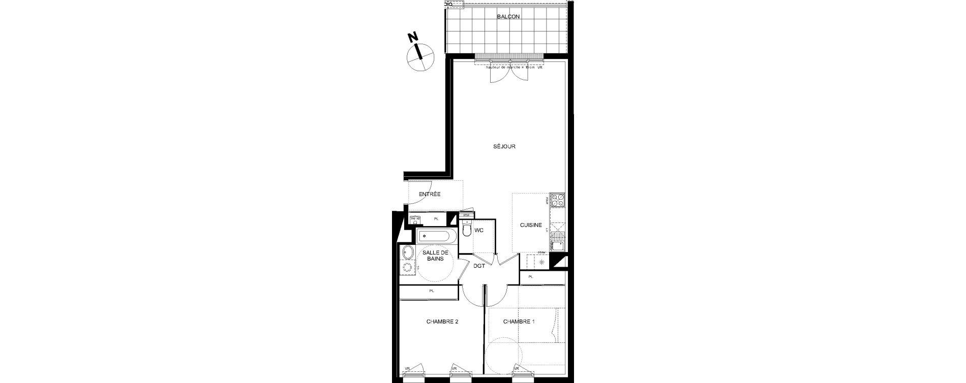 Appartement T3 de 71,19 m2 à Castanet-Tolosan Castanet tolosan centre