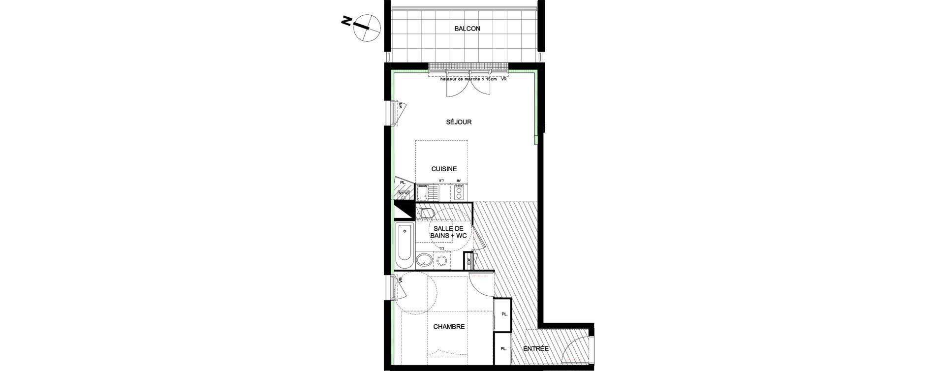 Appartement T2 de 51,92 m2 à Castanet-Tolosan Castanet tolosan centre