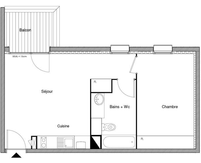 Plan T2 neuf à Castanet-Tolosan de