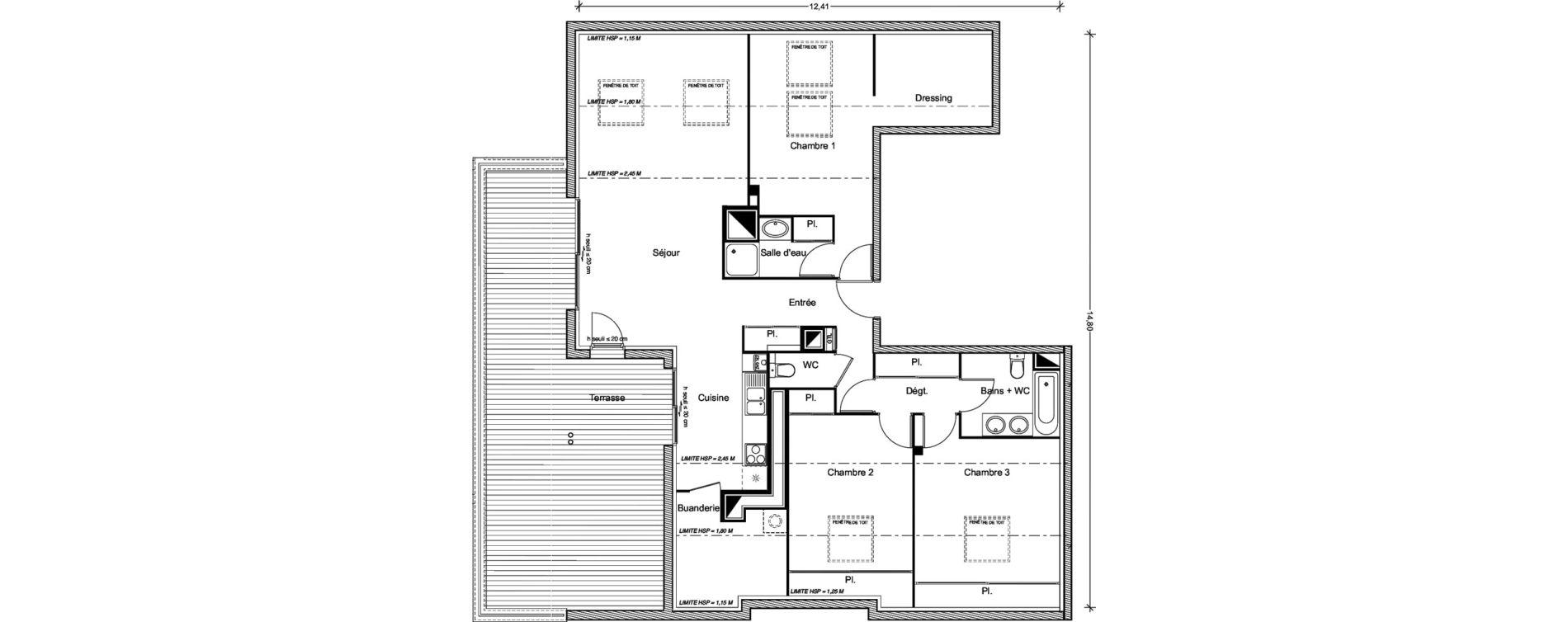 Appartement T4 de 89,68 m2 à Castanet-Tolosan Centre