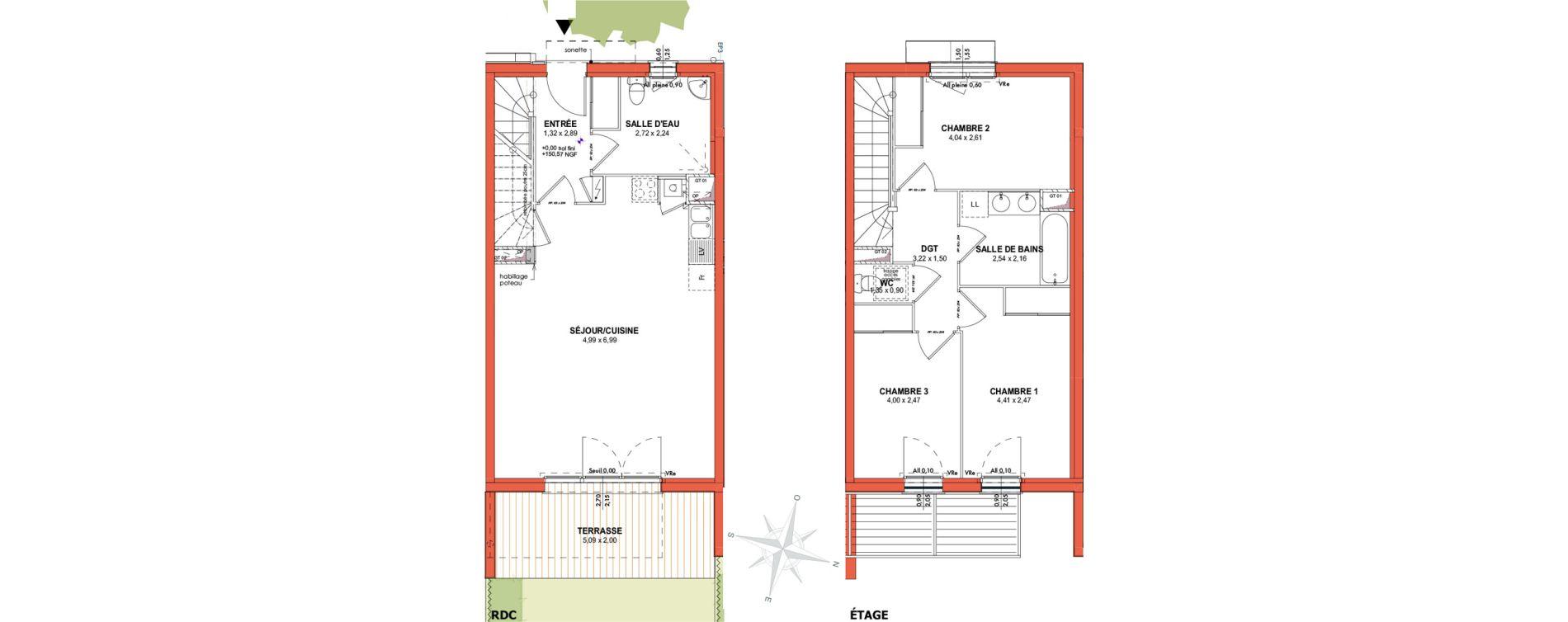Appartement T4 de 84,51 m2 à Castanet-Tolosan Centre
