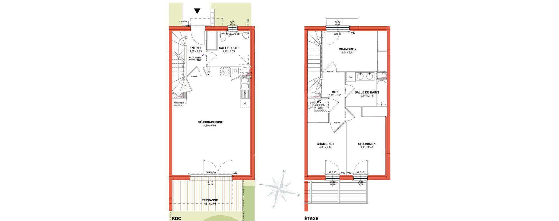 Appartement T4 de 84,79 m2 à Castanet-Tolosan Centre