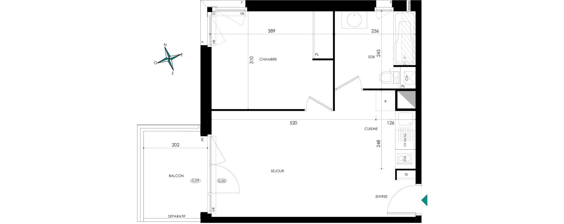 Appartement T2 de 40,82 m2 à Castelmaurou Centre