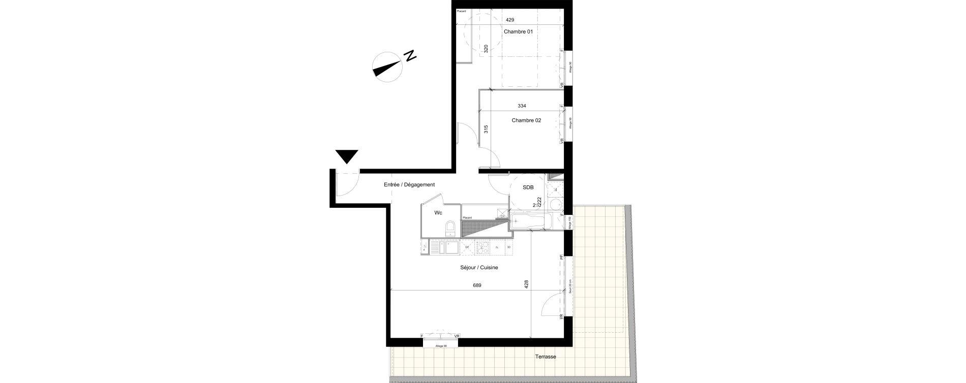 Appartement T3 de 73,09 m2 à Colomiers Centre colomiers