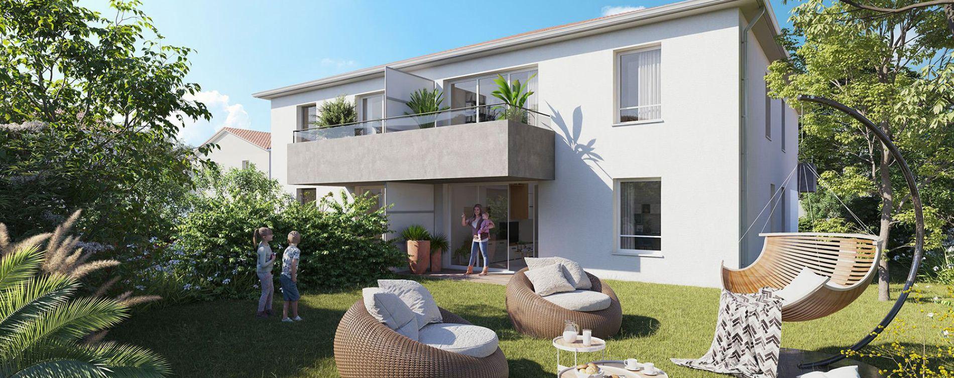 Colomiers : programme immobilier neuve « Villas Confidence » en Loi Pinel (2)