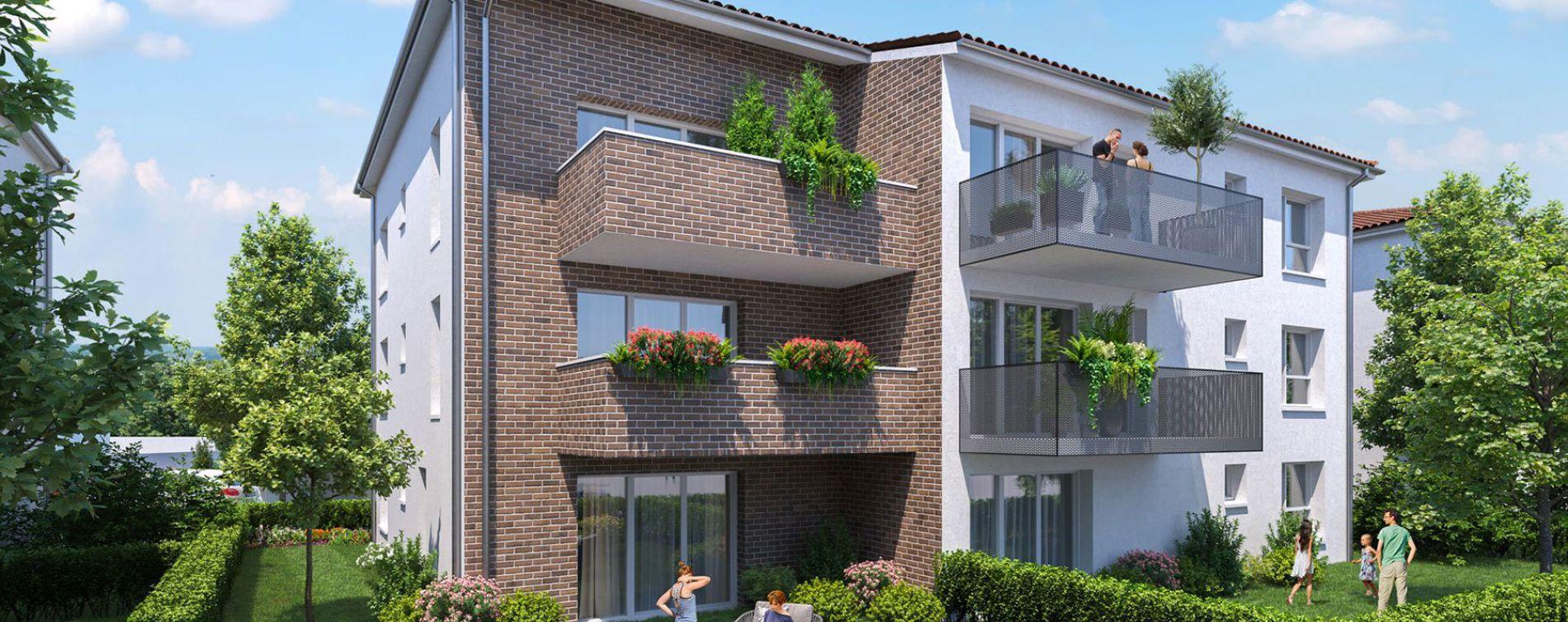 Cugnaux : programme immobilier neuve « Les Jardins de Charles » en Loi Pinel