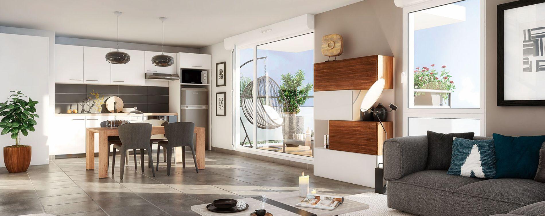 Eaunes : programme immobilier neuve « Le Belcanto » en Loi Pinel (2)