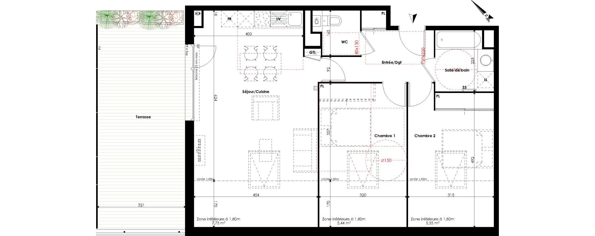 Appartement T3 de 63,26 m2 à Escalquens Centre