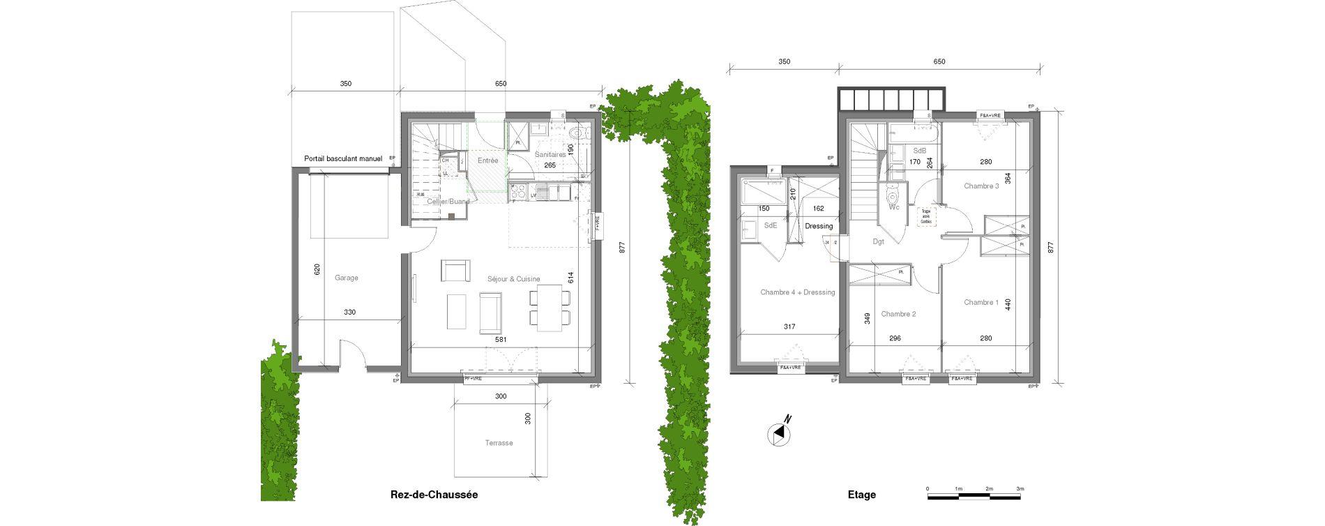 Maison T5 de 104,95 m2 à Launaguet Centre