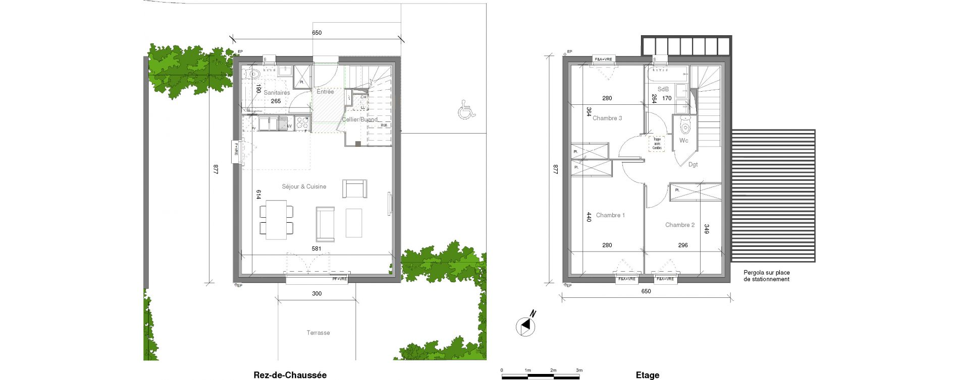 Maison T4 de 85,65 m2 à Launaguet Centre