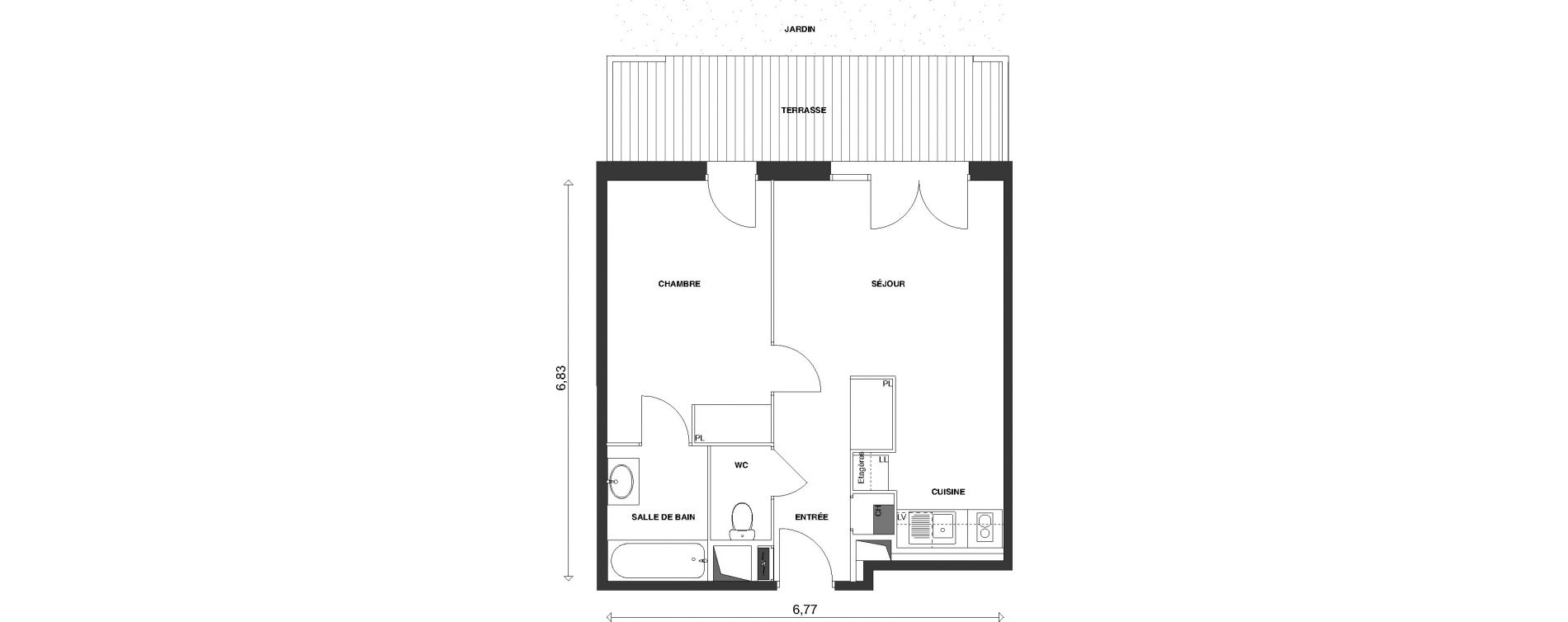Plan T2 neuf à Launaguet de