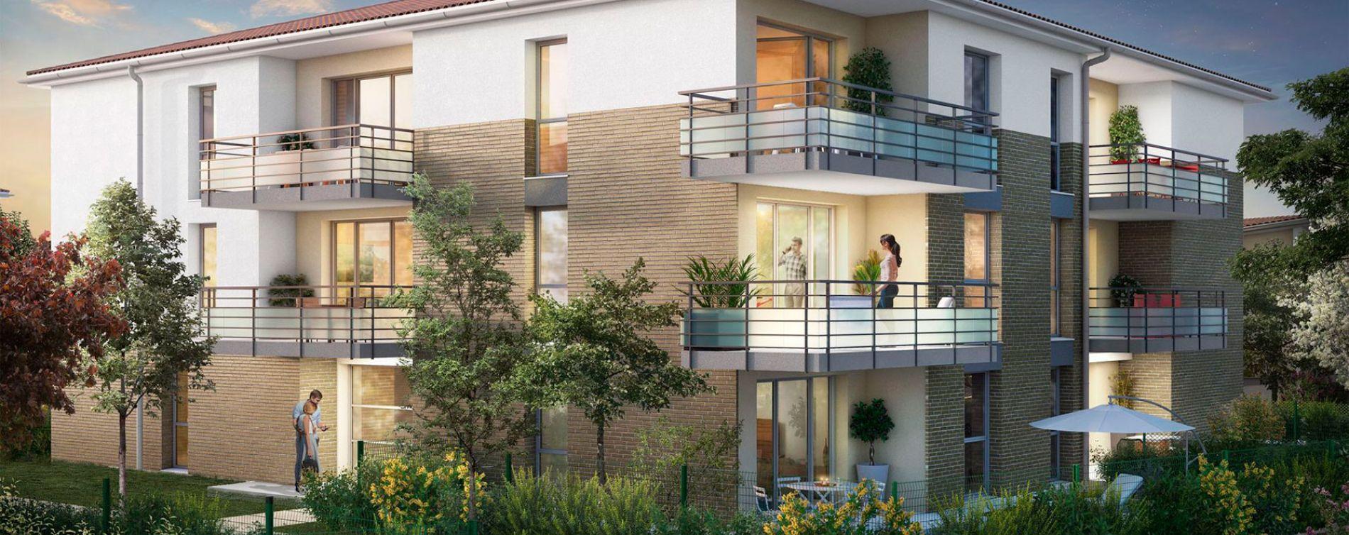 Lespinasse : programme immobilier neuve « Canal Rive Gauche » en Loi Pinel (2)