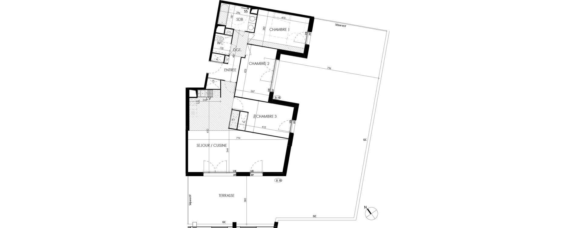 Appartement T4 de 84,70 m2 à L'Union Centre