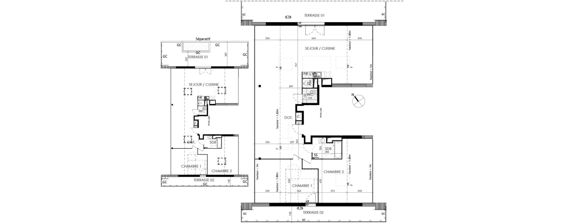 Appartement T3 de 85,00 m2 à L'Union Centre