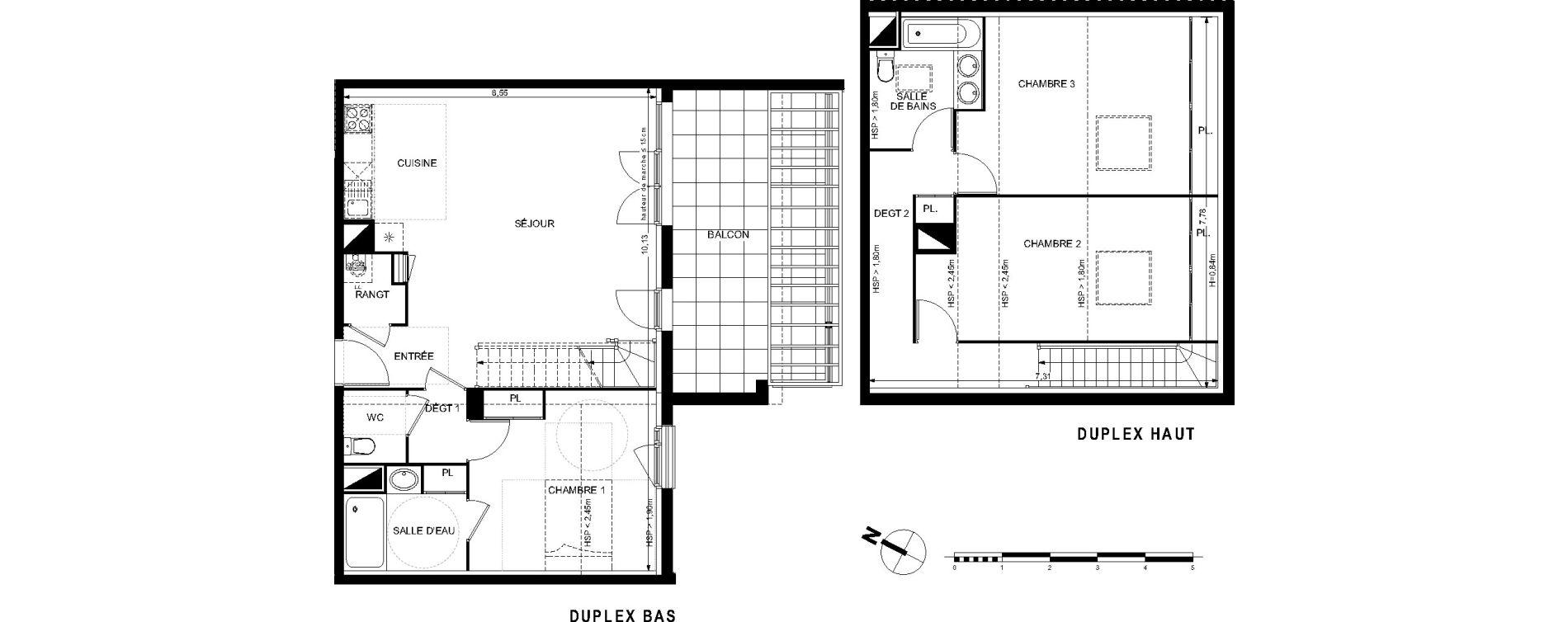 Duplex T4 de 94,36 m2 à L'Union Centre