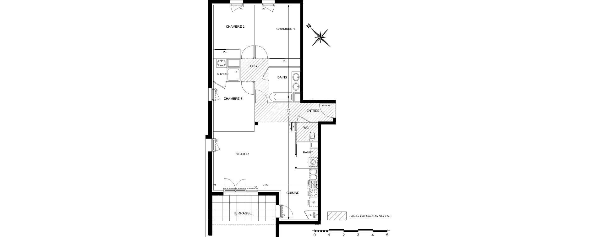 Appartement T4 de 87,05 m2 à L'Union Centre