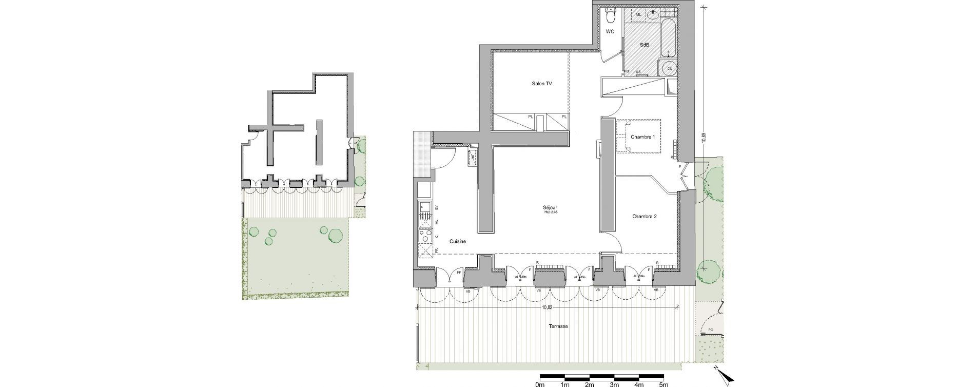 Appartement T3 de 77,42 m2 à Pin-Balma Centre