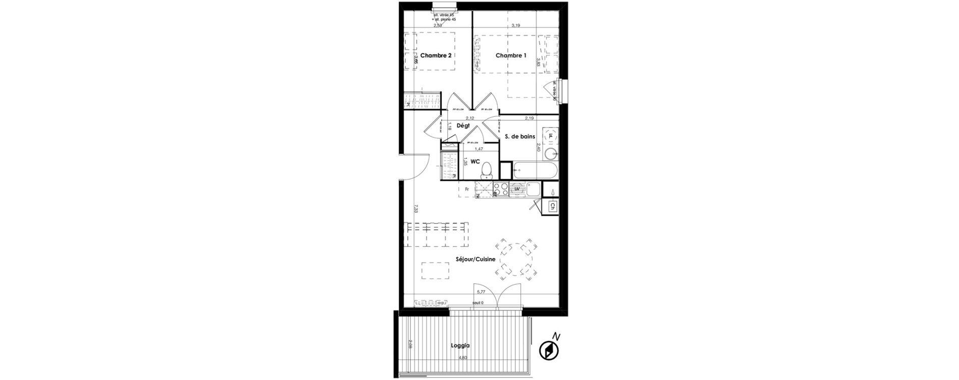 Appartement t3 de 1er tage s greenside plaisance - Piscine municipale plaisance du touch ...