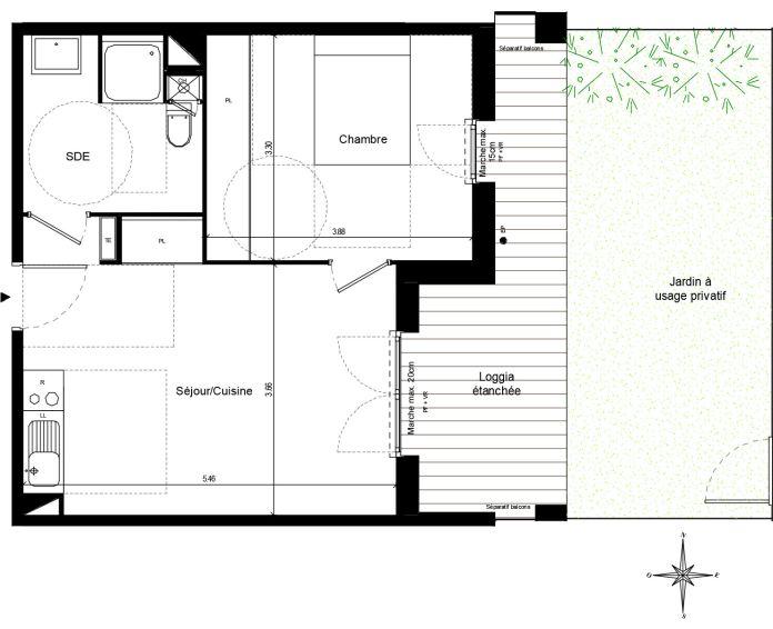 Appartement t2 quint fonsegrives n 738 est for Chambre d agriculture haute corse