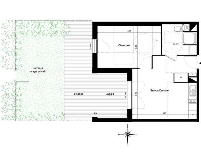 Appartement t2 quint fonsegrives n 756 ouest for Chambre d agriculture haute corse