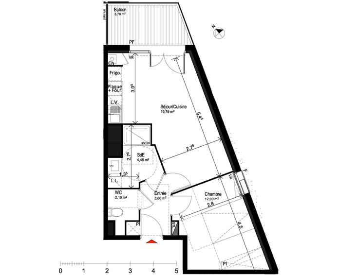 Plan T2 neuf à Saint-Orens-de-Gameville de