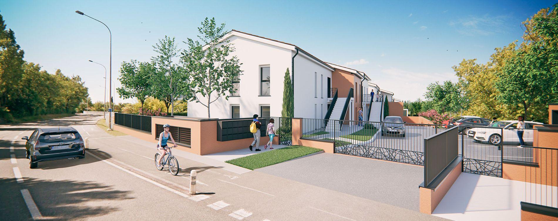 Saint-Orens-de-Gameville : programme immobilier neuve « Les Terrasses de Saint Orens » en Loi Pinel (2)