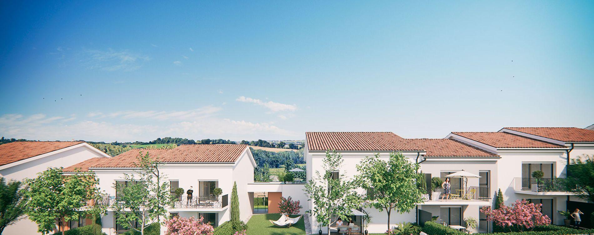 Saint-Orens-de-Gameville : programme immobilier neuve « Les Terrasses de Saint Orens » en Loi Pinel (3)