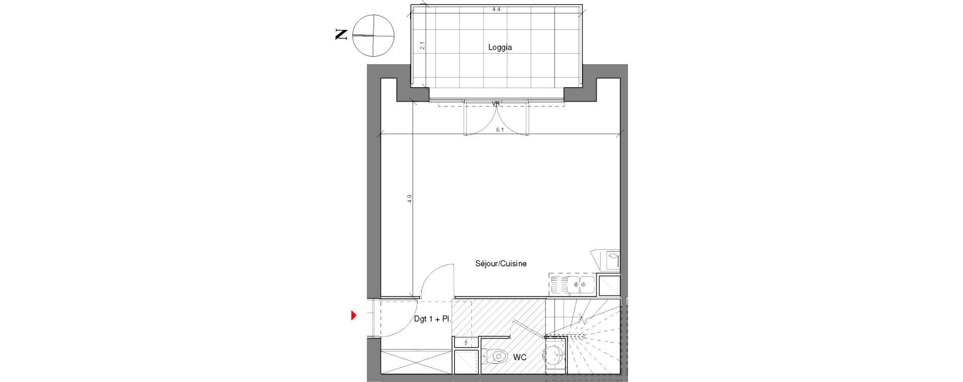 Duplex T3 de 66,90 m2 à Toulouse Croix daurade