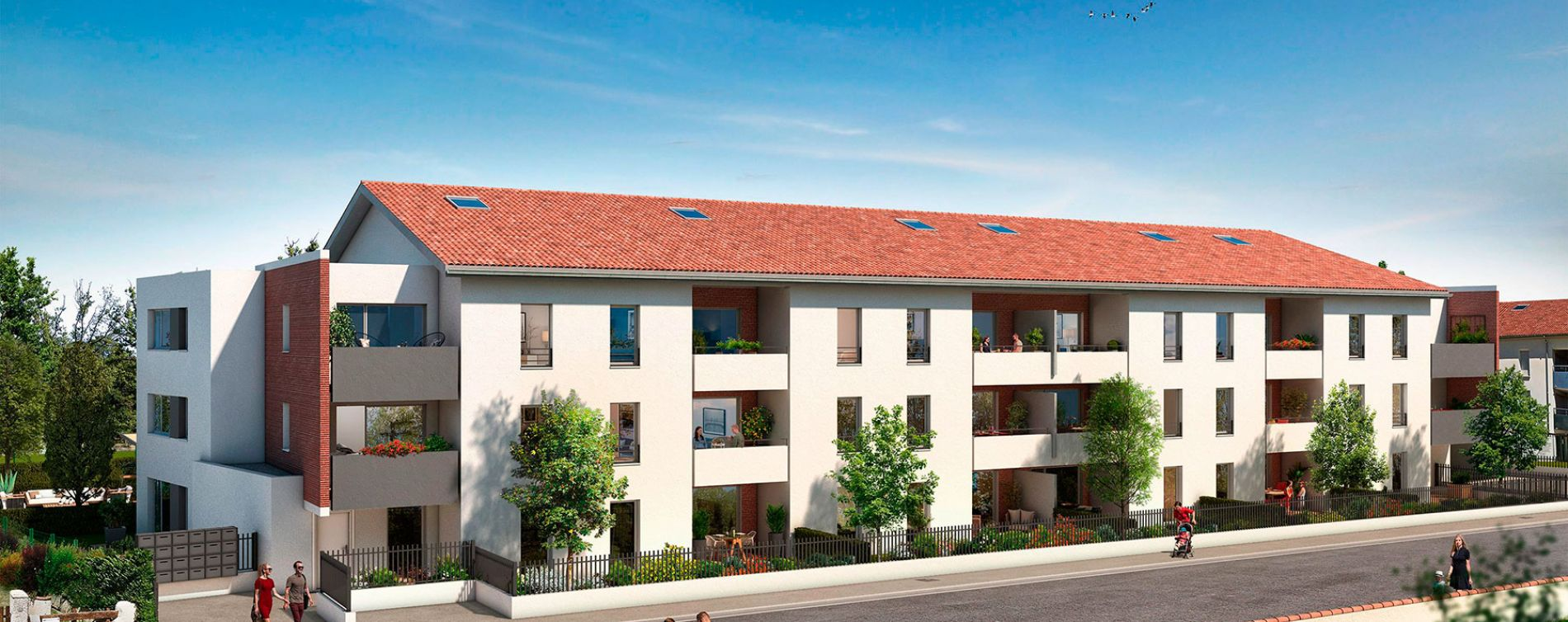 Toulouse : programme immobilier neuve « Le Patio de Carmel » (2)