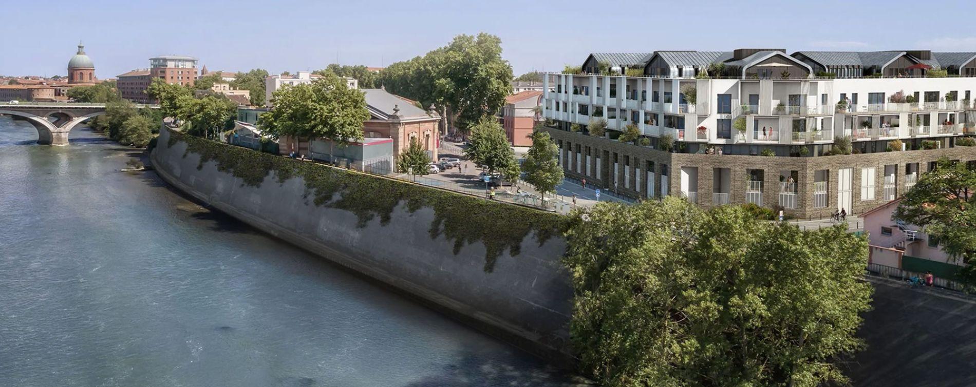Toulouse : programme immobilier neuve « Les Belles Rives » en Loi Pinel