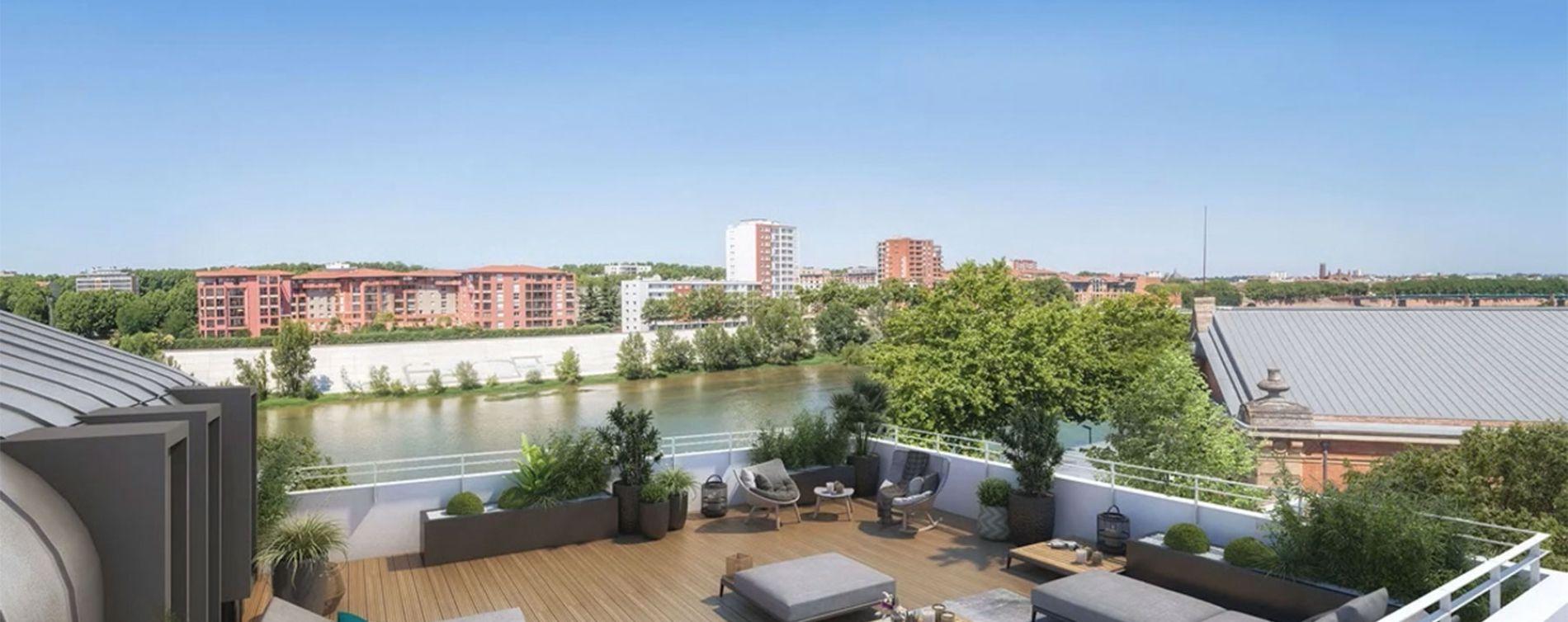 Toulouse : programme immobilier neuve « Les Belles Rives » en Loi Pinel (2)