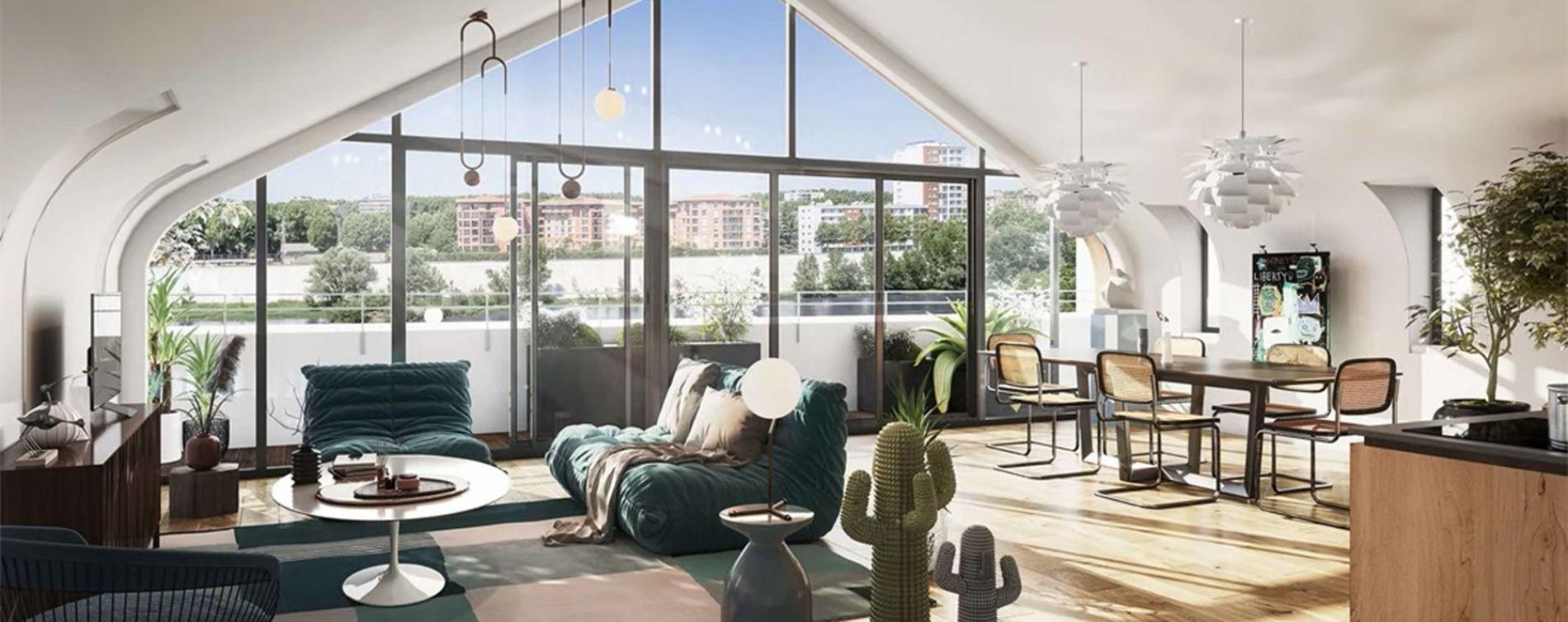 Toulouse : programme immobilier neuve « Les Belles Rives » en Loi Pinel (3)