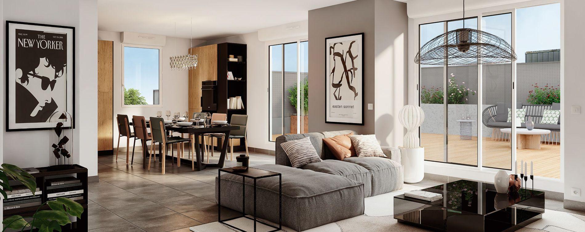 Toulouse : programme immobilier neuve « Les Camélias » en Loi Pinel (3)