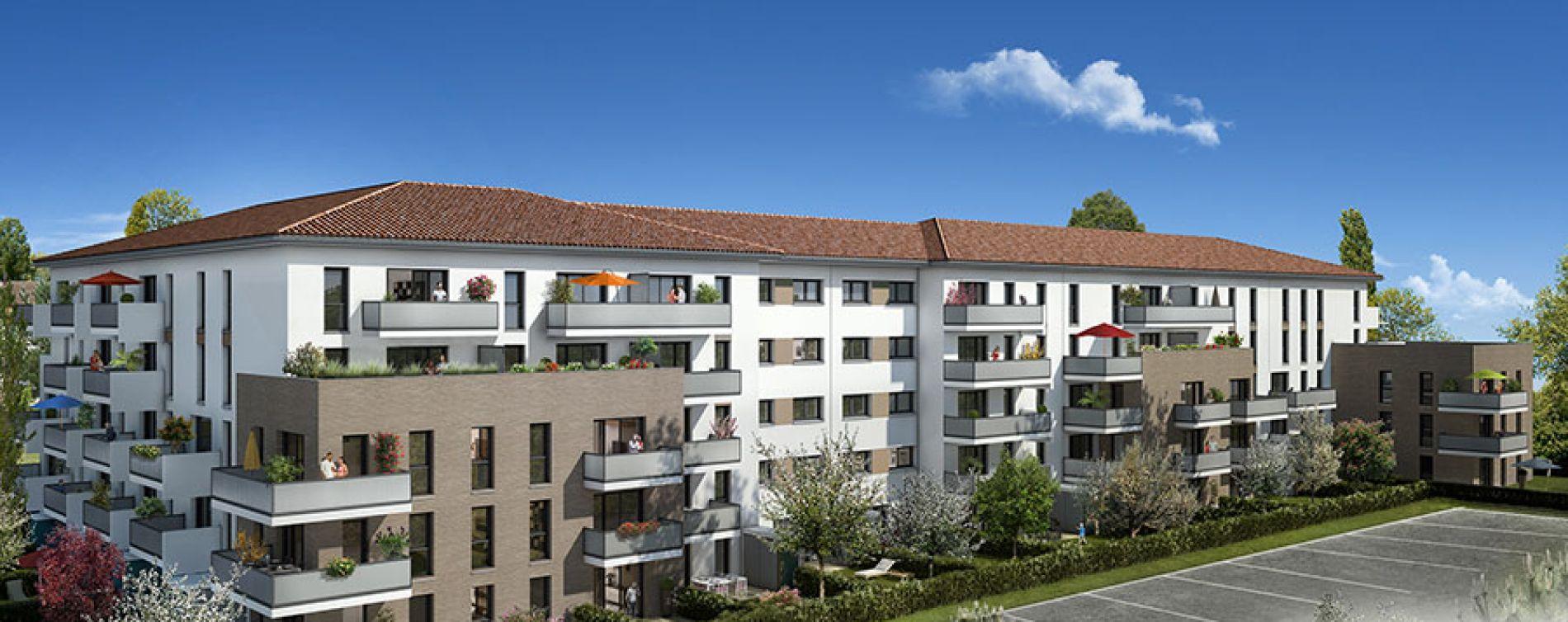 Toulouse : programme immobilier neuve « Les Jardins du Pastel » (2)