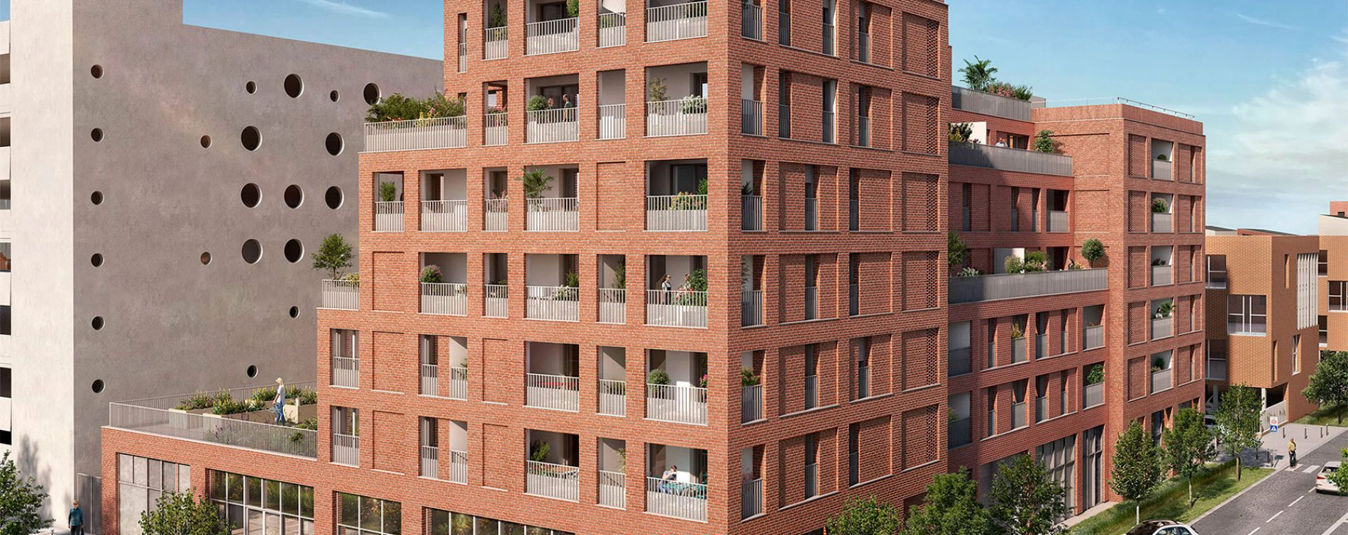 Toulouse : programme immobilier neuve « Live in Osmose » en Loi Pinel (2)