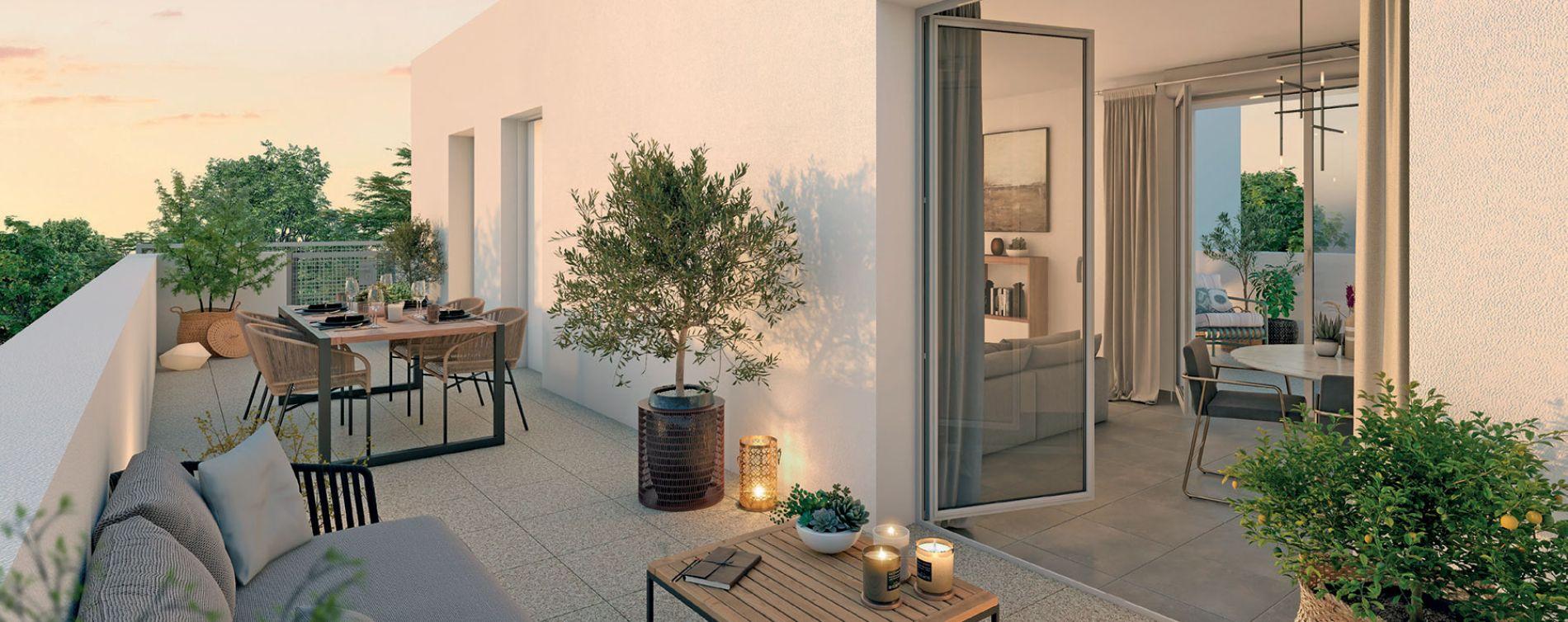 Toulouse : programme immobilier neuve « Nuances Opaline » en Loi Pinel (3)
