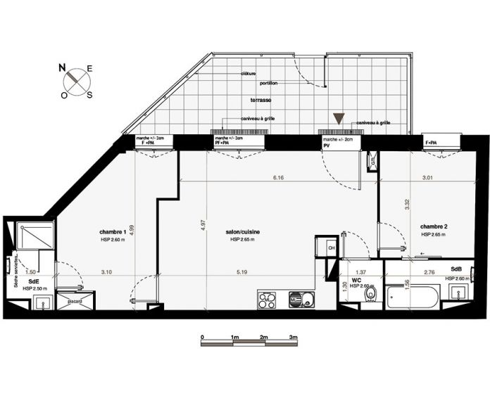 Appartement T3 Toulouse N 322 6381m² Ne Patio Roquelaine