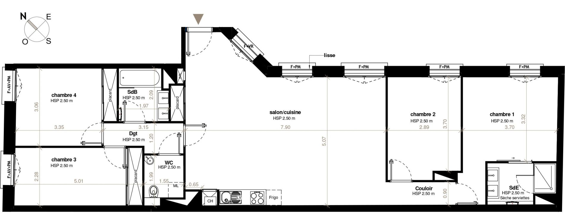 plan appartement t6