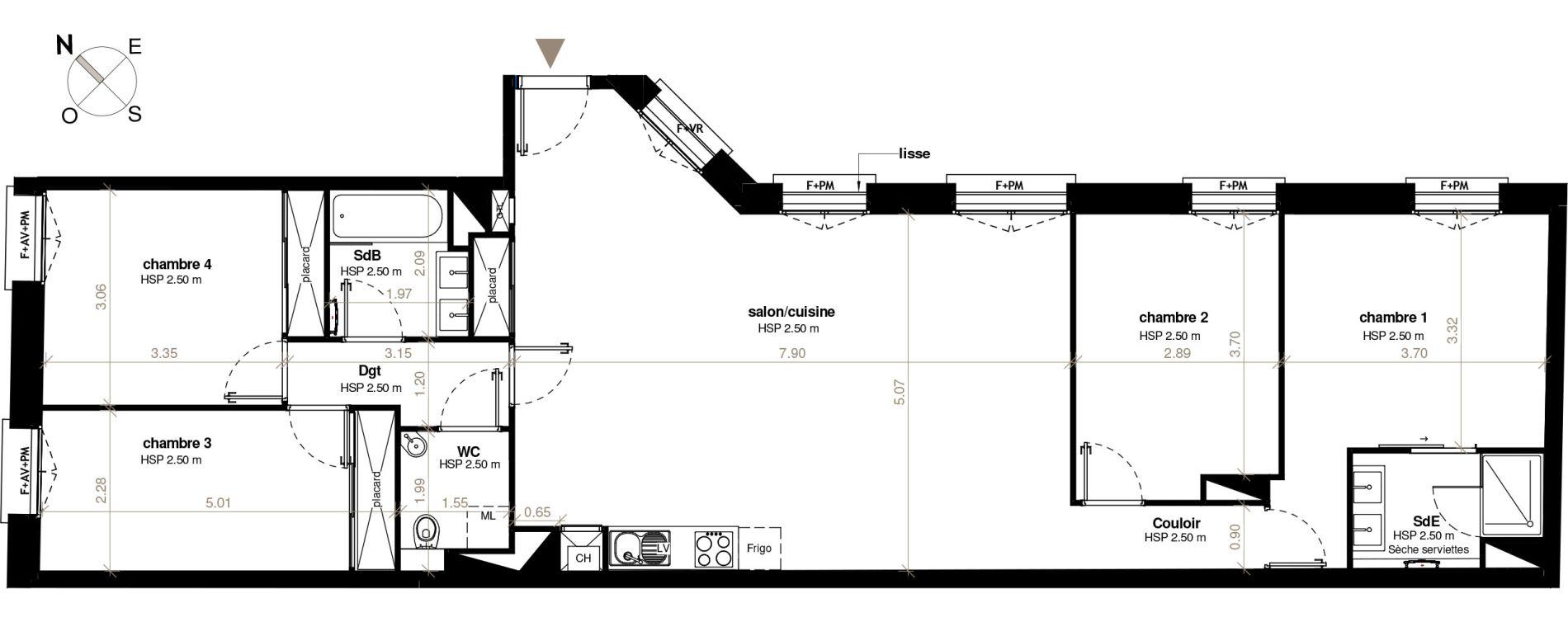 plan appartement t6