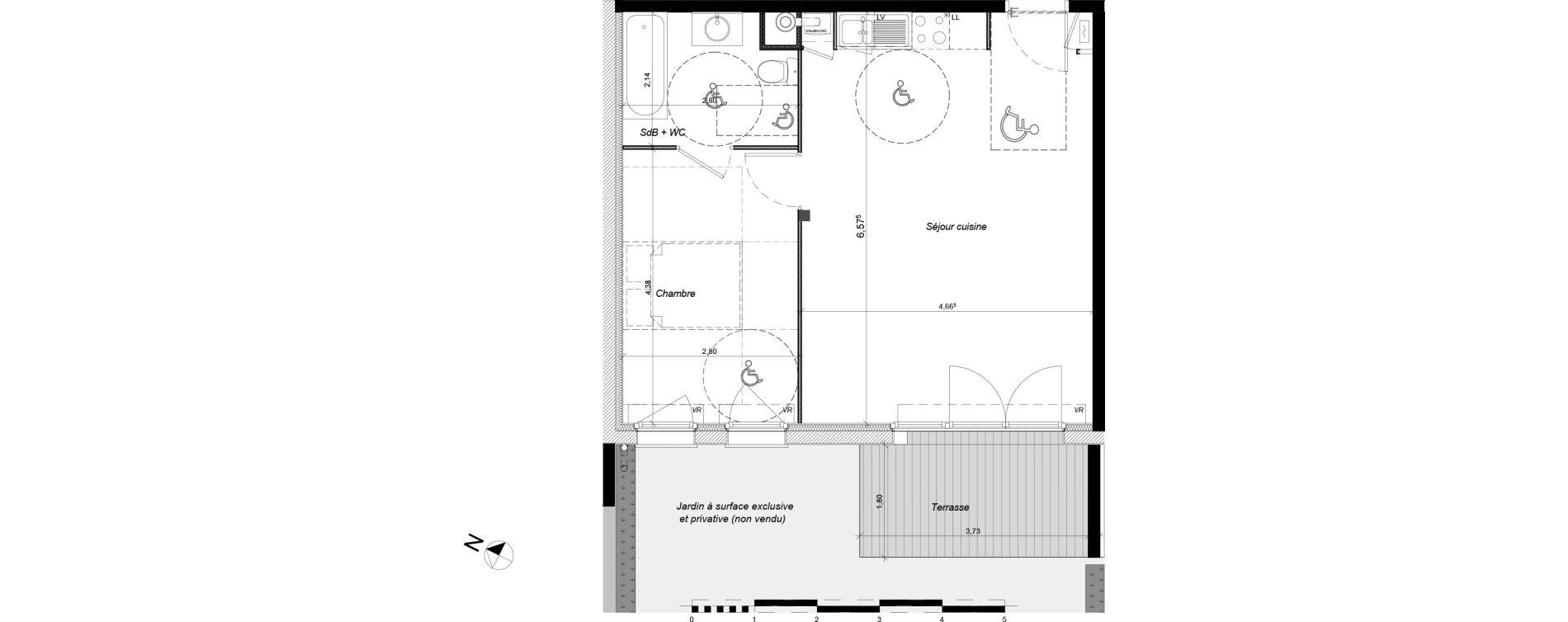 Appartement T2 de 48,45 m2 à Tournefeuille Centre