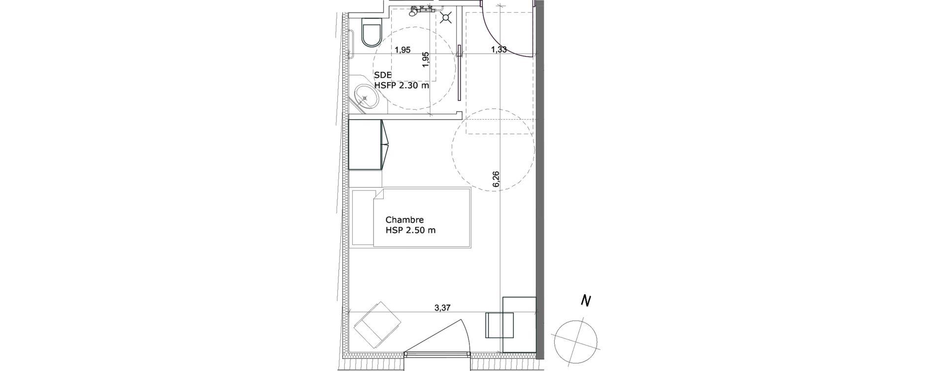 Chambre de 20,50 m2 à Ibos Centre