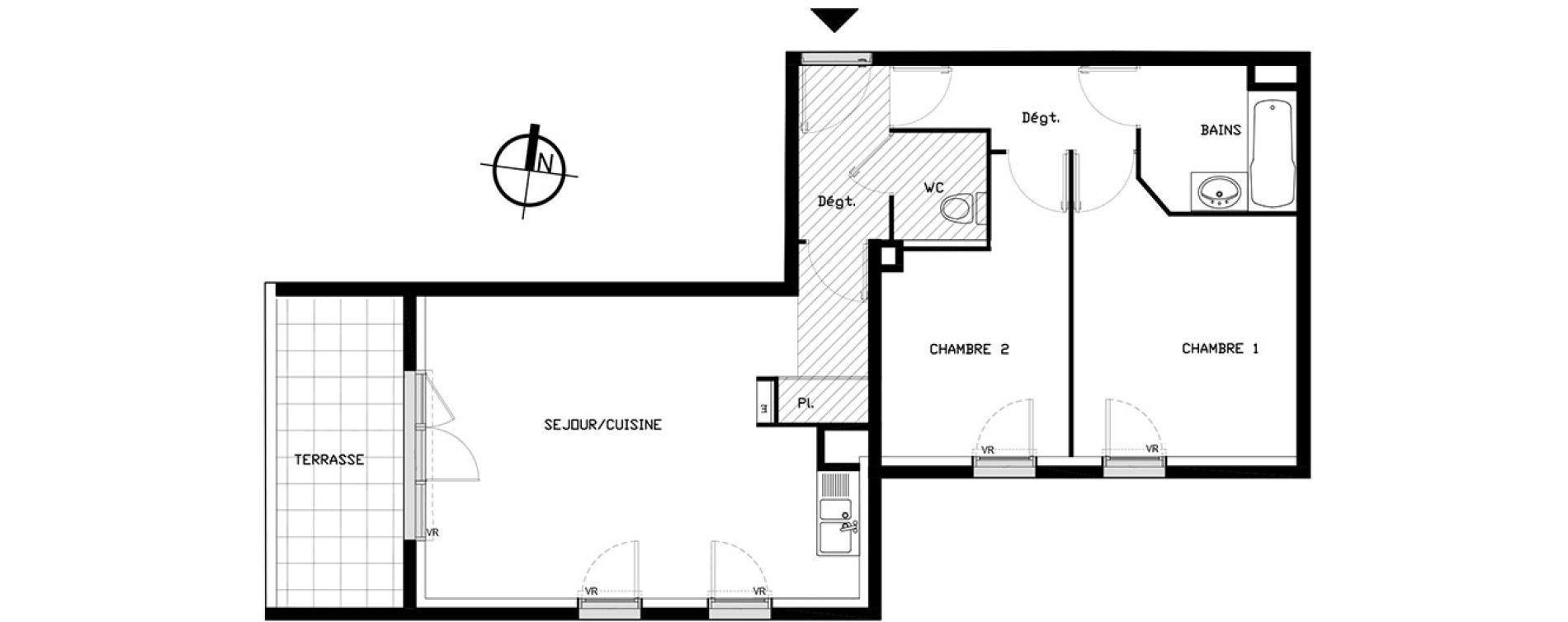 Appartement T3 de 60,60 m2 à Castelnau-Le-Lez Sablas - mendrous