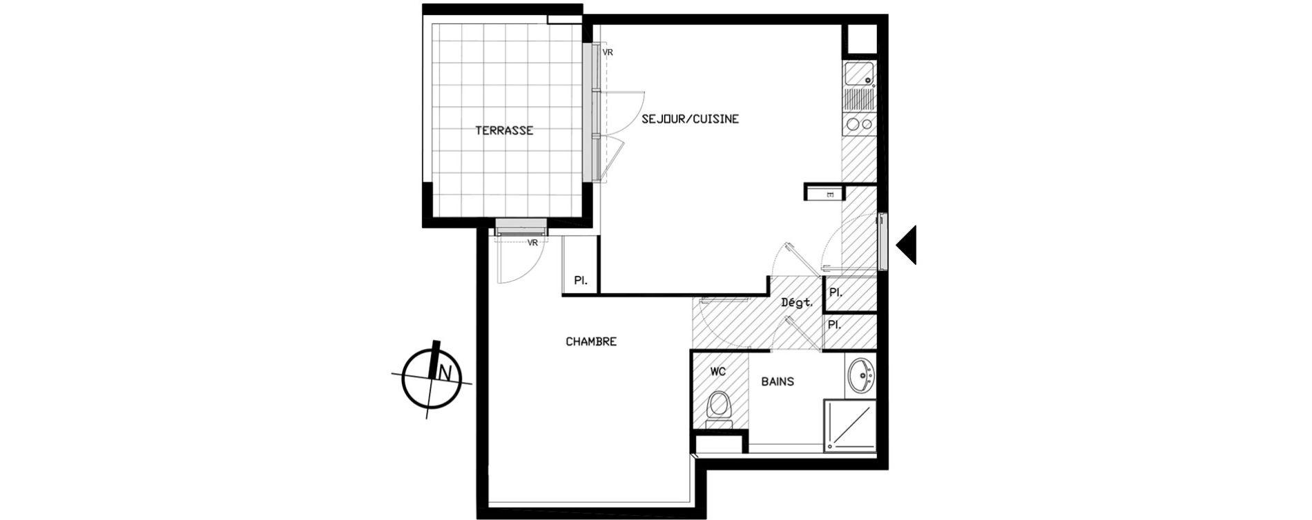 Appartement T2 de 43,00 m2 à Castelnau-Le-Lez Sablas - mendrous