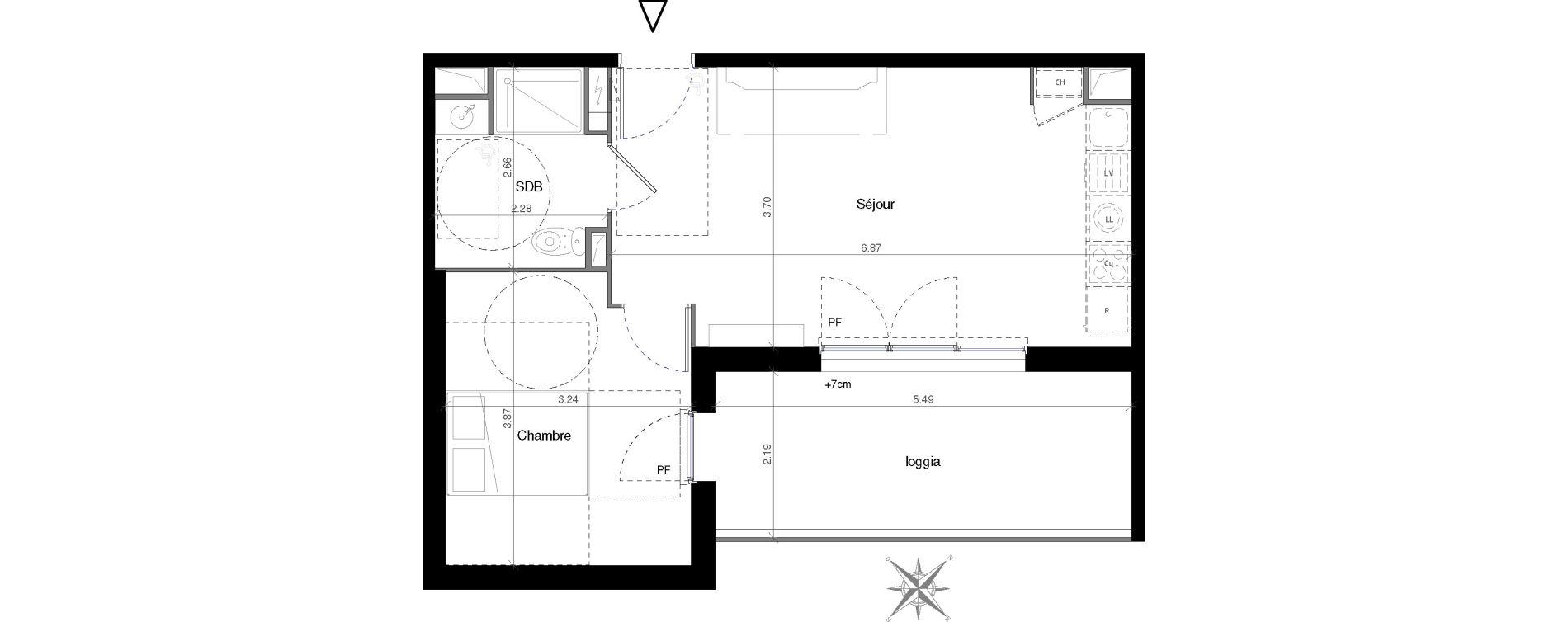 Appartement T2 de 41,76 m2 à Castelnau-Le-Lez Mas de rochet