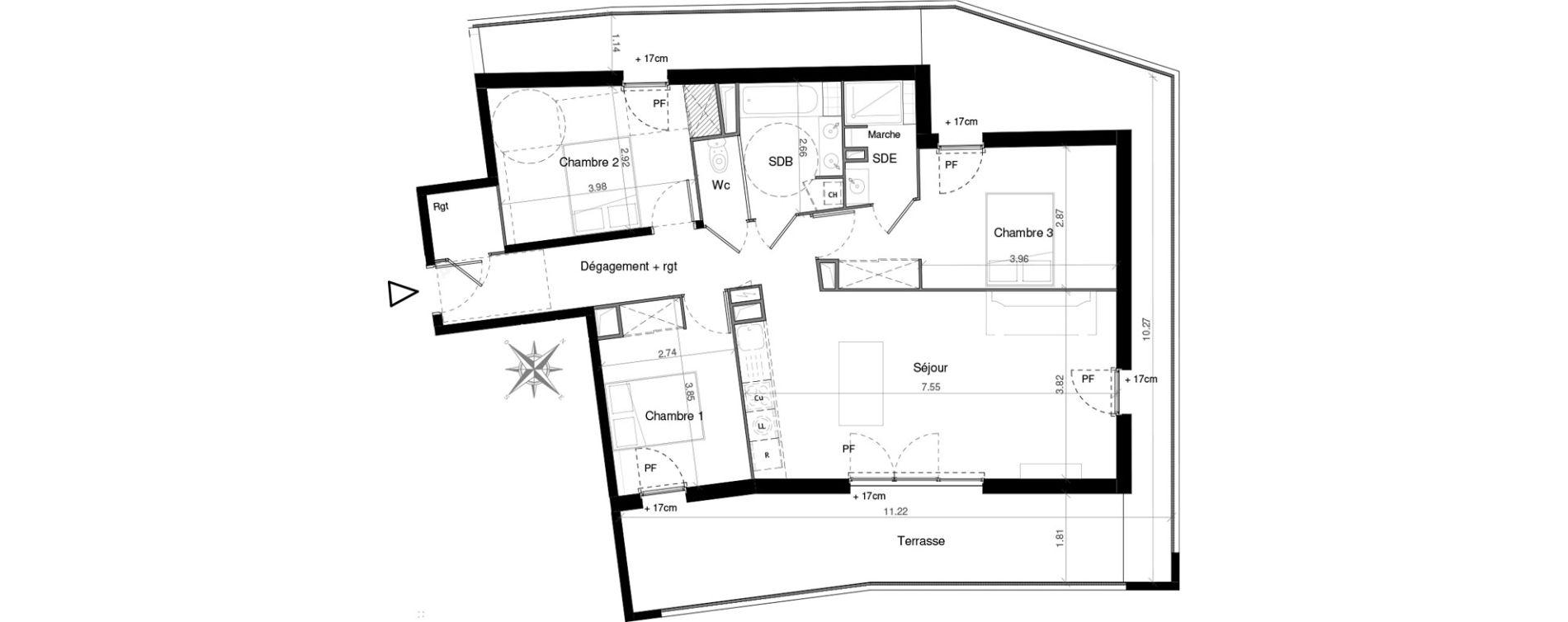 Appartement T4 de 88,87 m2 à Castelnau-Le-Lez Mas de rochet