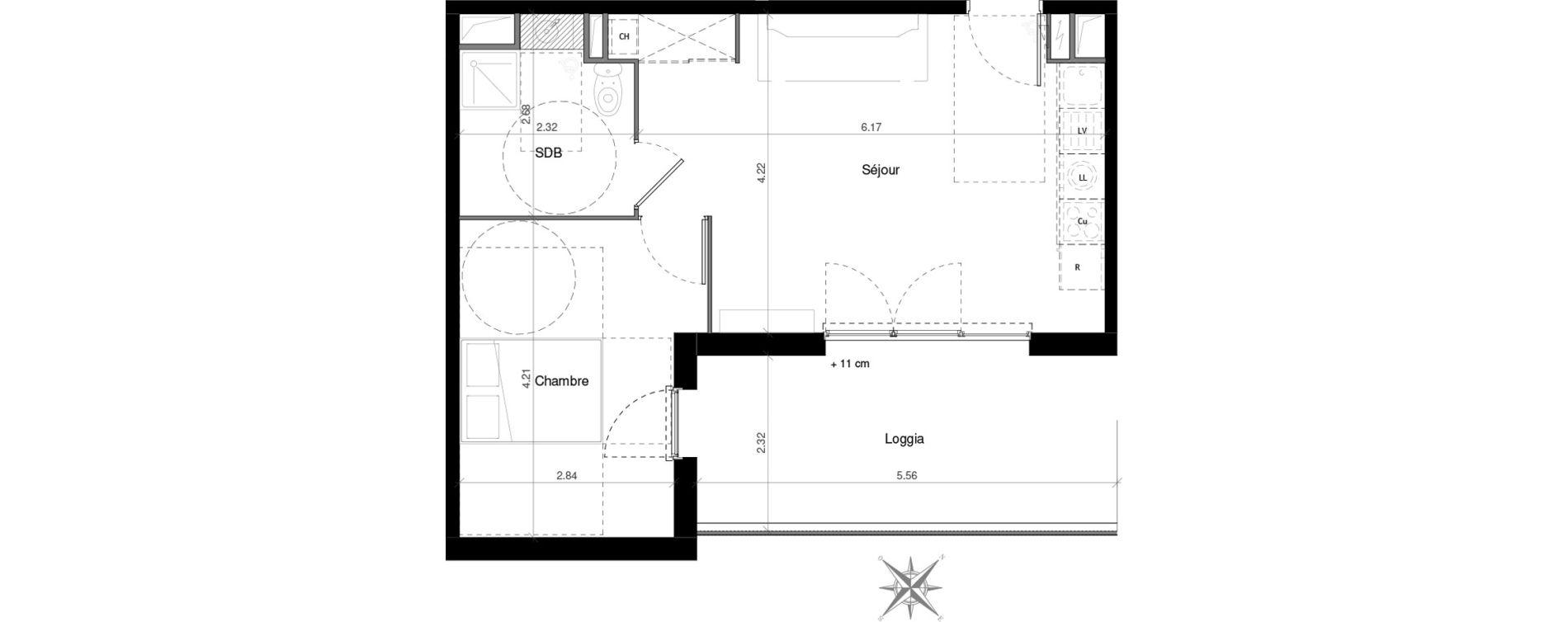 Appartement T3 de 68,68 m2 à Castelnau-Le-Lez Mas de rochet