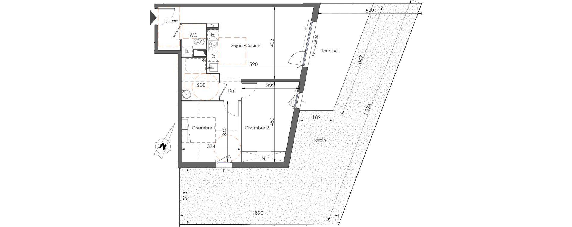 Appartement T3 de 59,52 m2 à Juvignac Centre